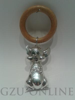 een 925 zilveren  rammelaar, rinkelbel