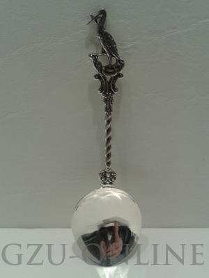 een 925 zilveren  geboortelepel