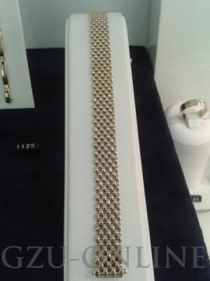 een 585 geelgoud armband