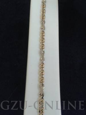 een 585 geel / witgouden armband
