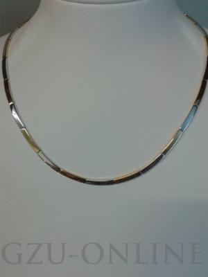 een 585 geel / witgoud collier