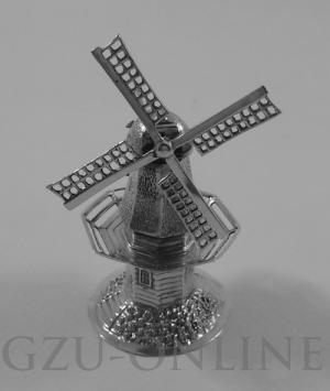 een 833/1000 zilveren miniatuurzilver
