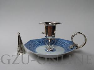 een Zilver 934/1000 en 833/1000 blaker en dover(domper, snuiter) - Antiek zilver