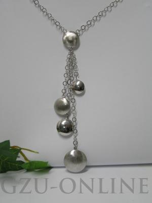 een set 925 zilveren jasseroncollier