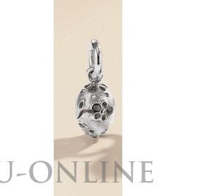 een zilver 925 zilveren  hanger Blossom