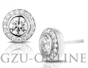 een paar zilver 925 zilveren  oorknoppen Rosa di Luca