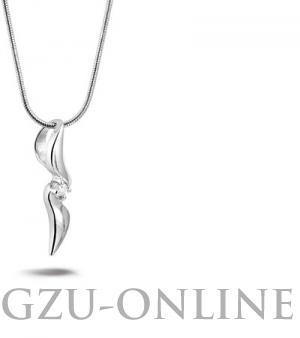een zilver 925 zilveren  hanger Rosa di Luca